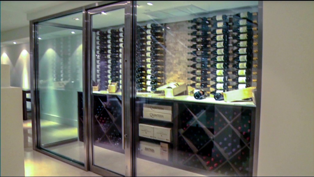 Inside luxury wine cellars