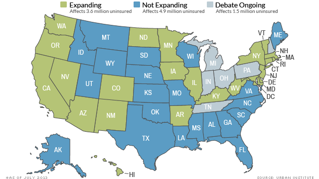 States Forgo Billions By Opting Out Of Medicaid Expansion