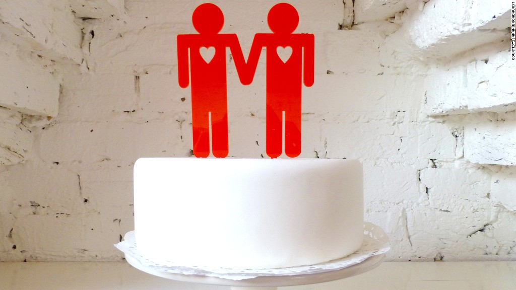 same sex cake topper