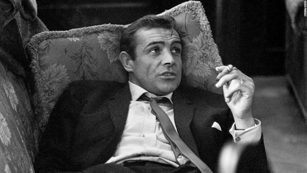 sean connery smoking