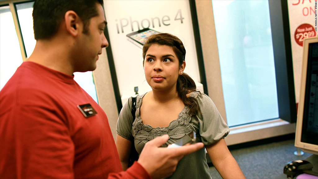 verizon iphone sales