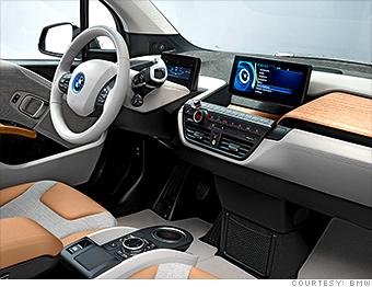 Easing The Impact Bmw Unveils I3 Electric Car Cnnmoney