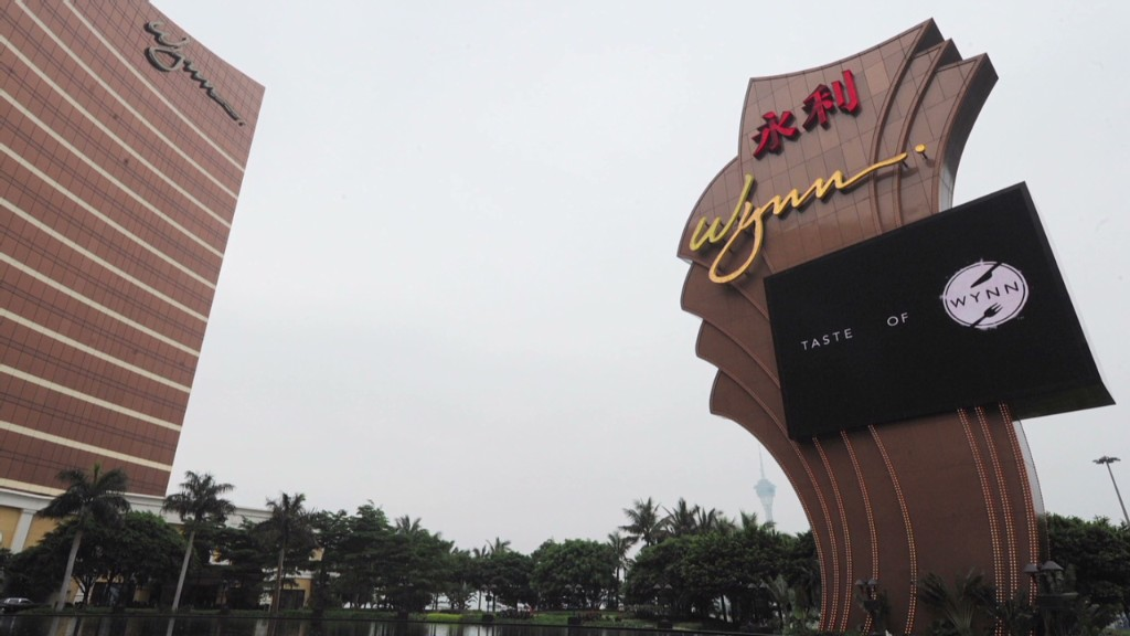 Wynn craps out in China