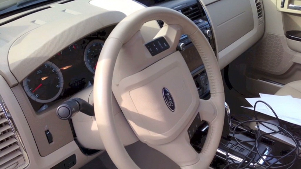 Hackers control car's steering and brakes