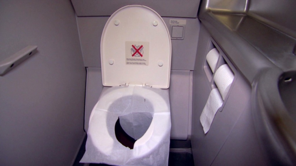 How do you empty an A380's toilets?