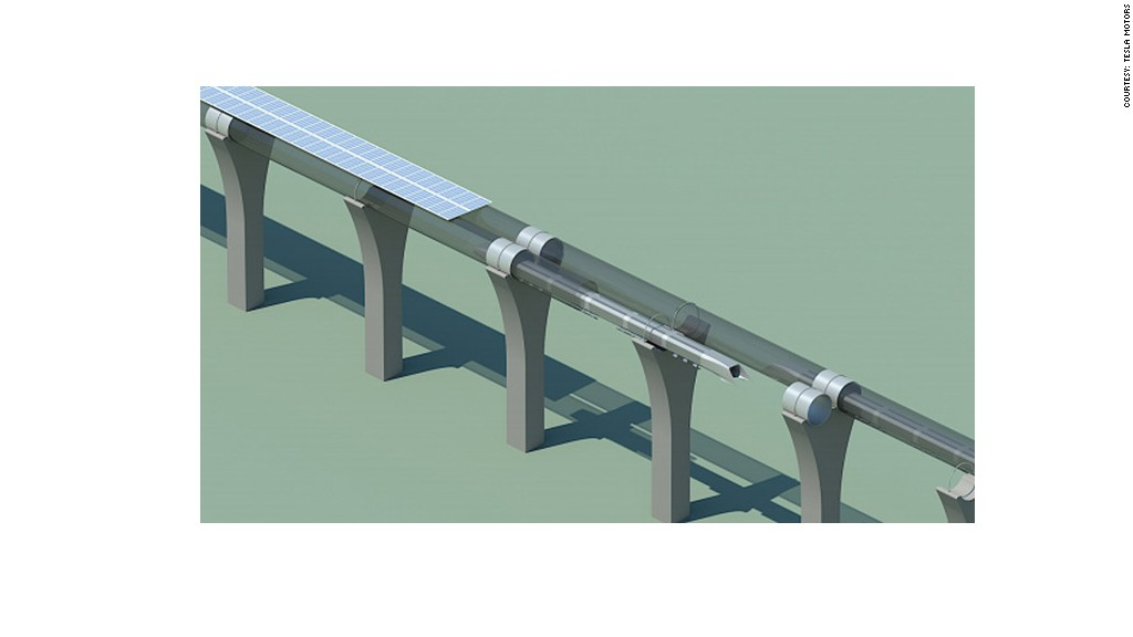 telsa hyperloop tube