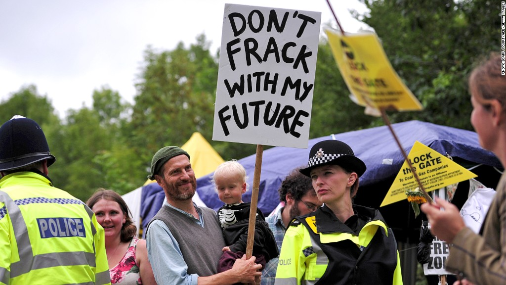 fracking protests uk