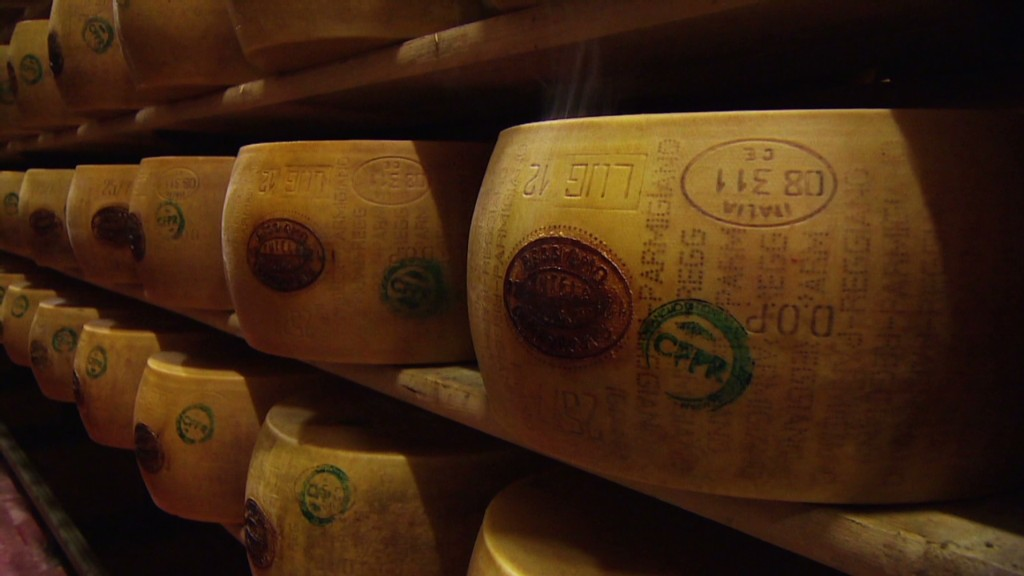 Storing cheese in Italian bank vaults