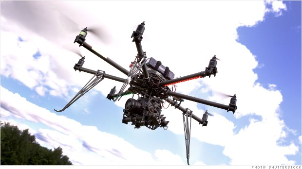 firefighters drones