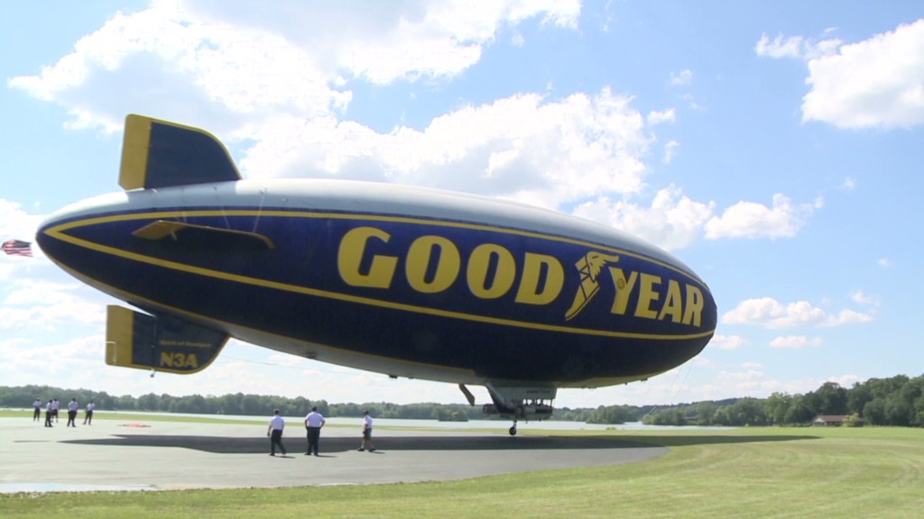 I fly a Goodyear blimp