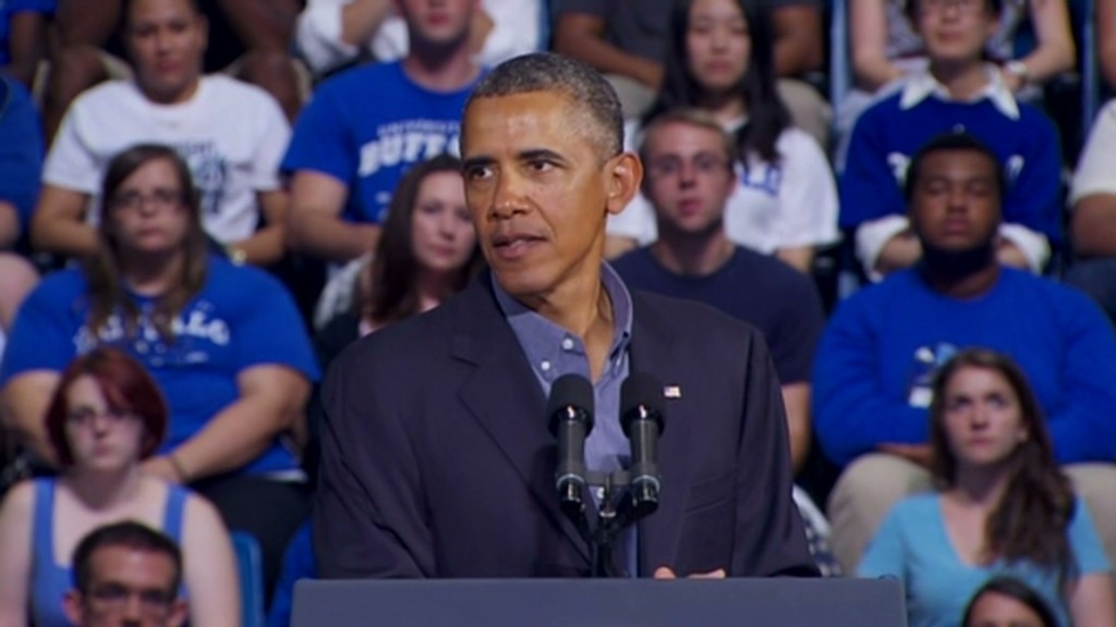 Obama's college speech in 100 seconds