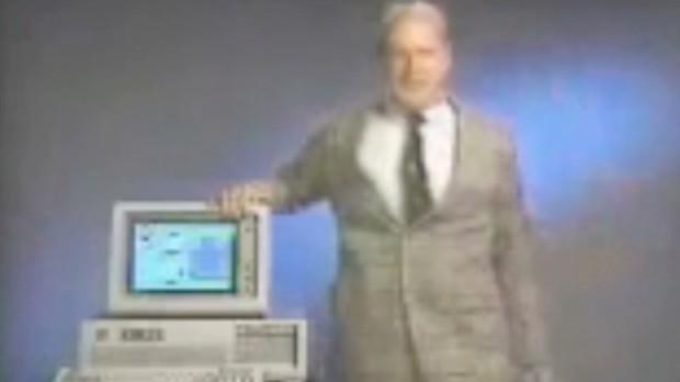 Watch Ballmer promote Windows 1.0 in 1985