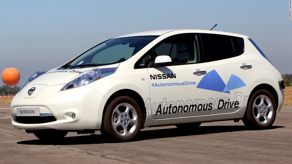self driving nissan leaf