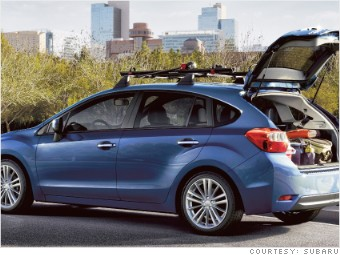 subaru impreza hatchback 8 small cars cargo space vs parking space cnnmoney. Black Bedroom Furniture Sets. Home Design Ideas