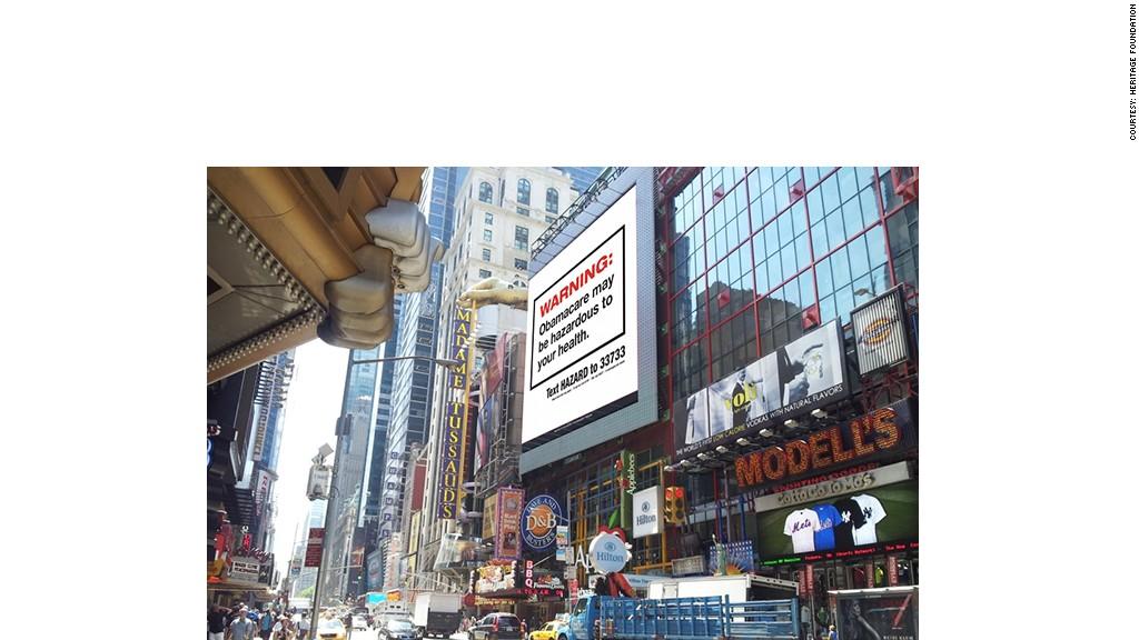 obamacare heritage billboard