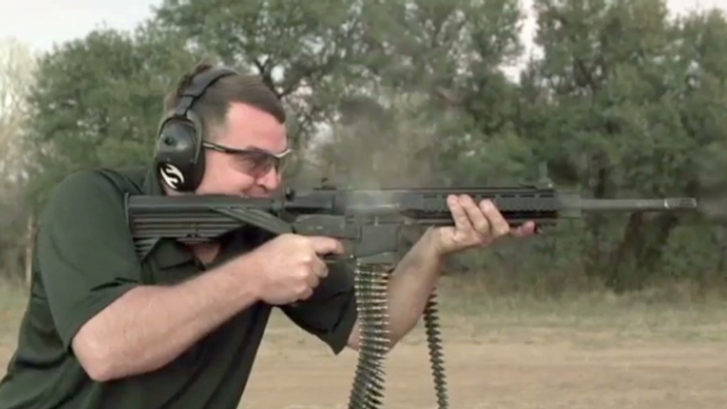 A rifle that shoots like a machine gun