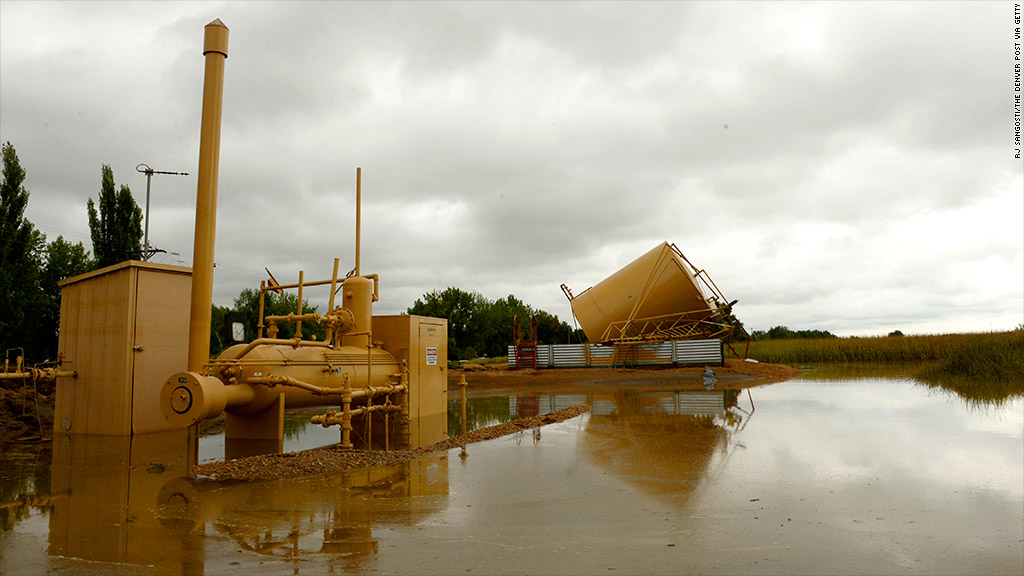 colorado flood fracking