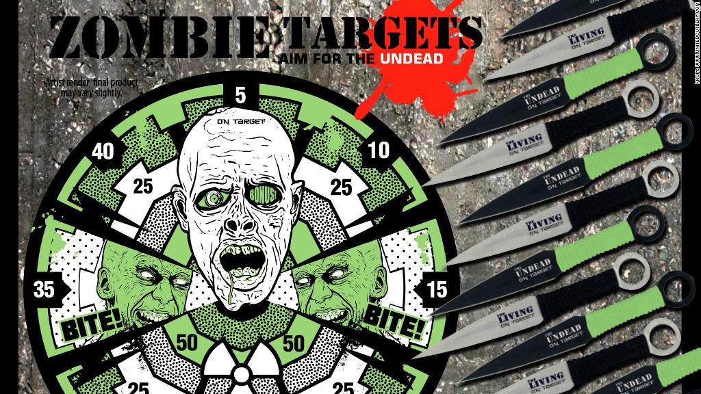 zombie apocalypse throwing knives