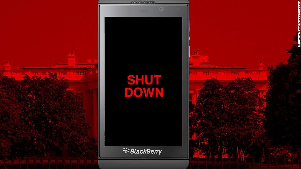 blackberry shutdown government workers