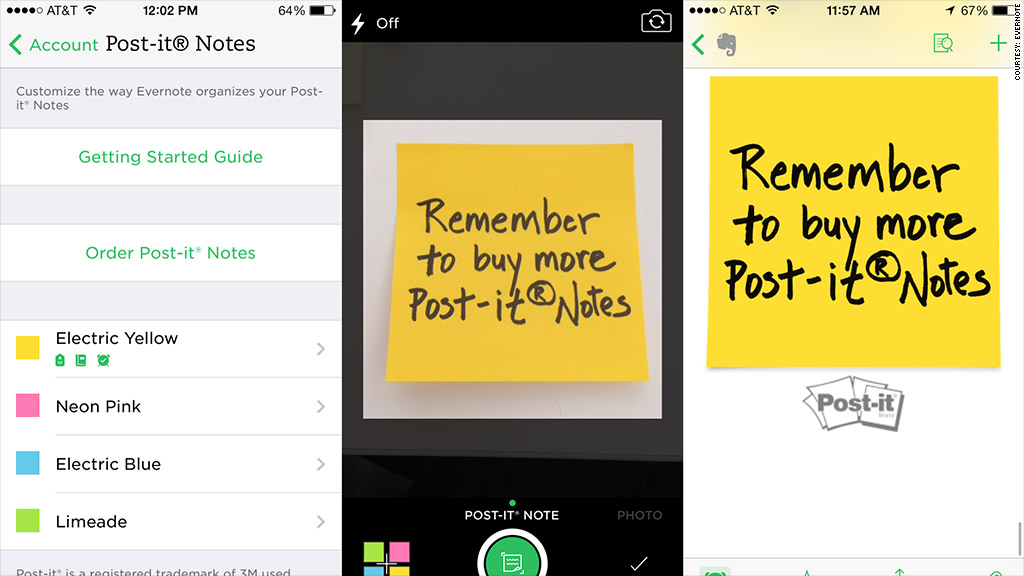 evernote postits