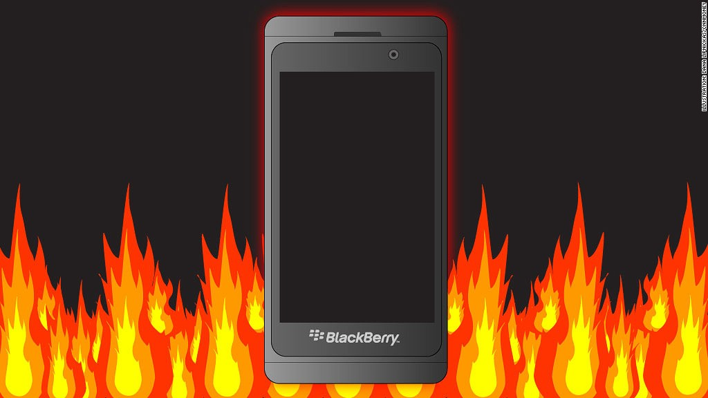 blackberry earnings fire