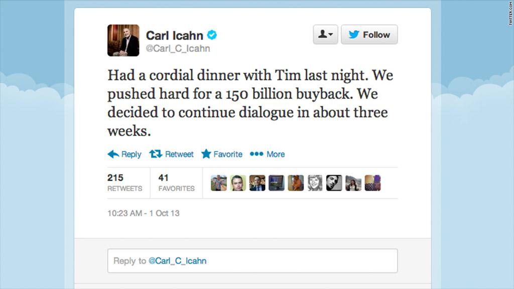 icahn tweet