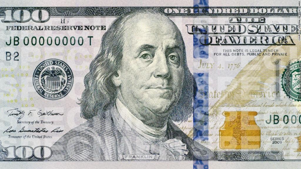 one hundred dollar bill seal