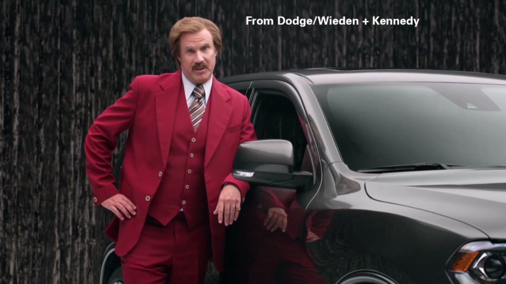 Watch Ron Burgundy try to sell a Durango