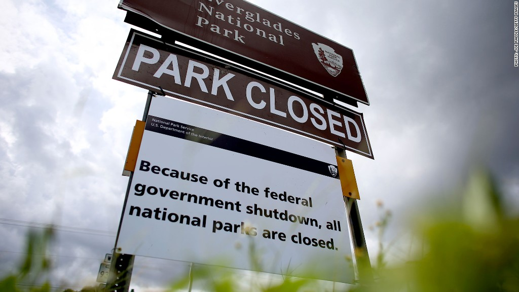 park closed shutdown
