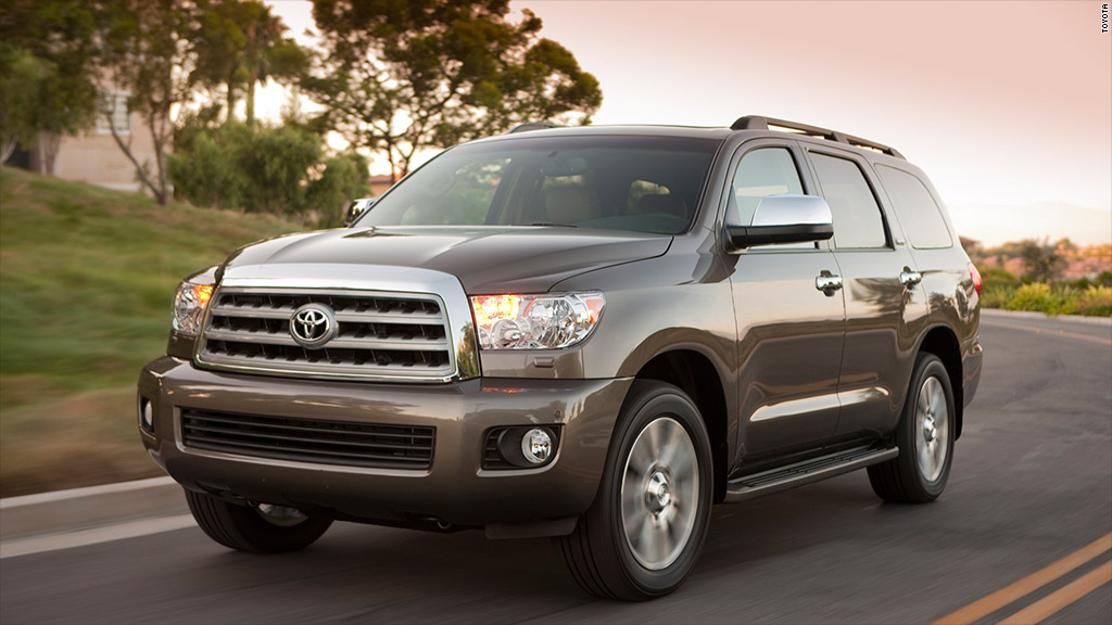 full size suv toyota sequoia best resale value cars cnnmoney. Black Bedroom Furniture Sets. Home Design Ideas