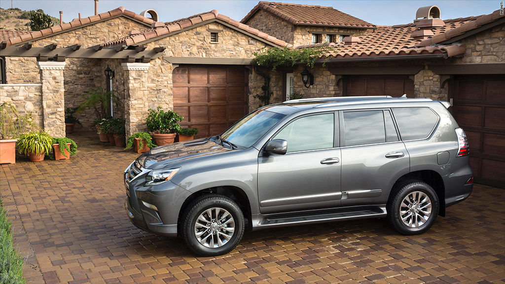 luxury mid size suv lexus gx 460 best resale value cars cnnmoney. Black Bedroom Furniture Sets. Home Design Ideas