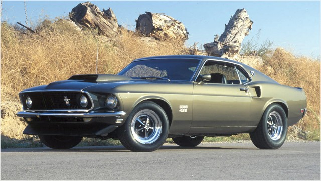 12 historic Ford Mustangs