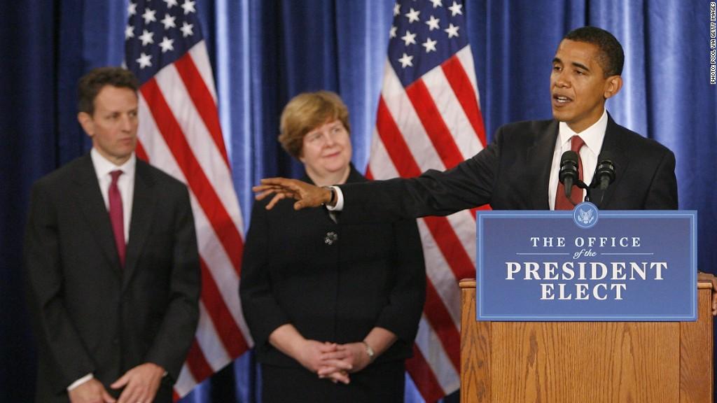 obama geithner 2008