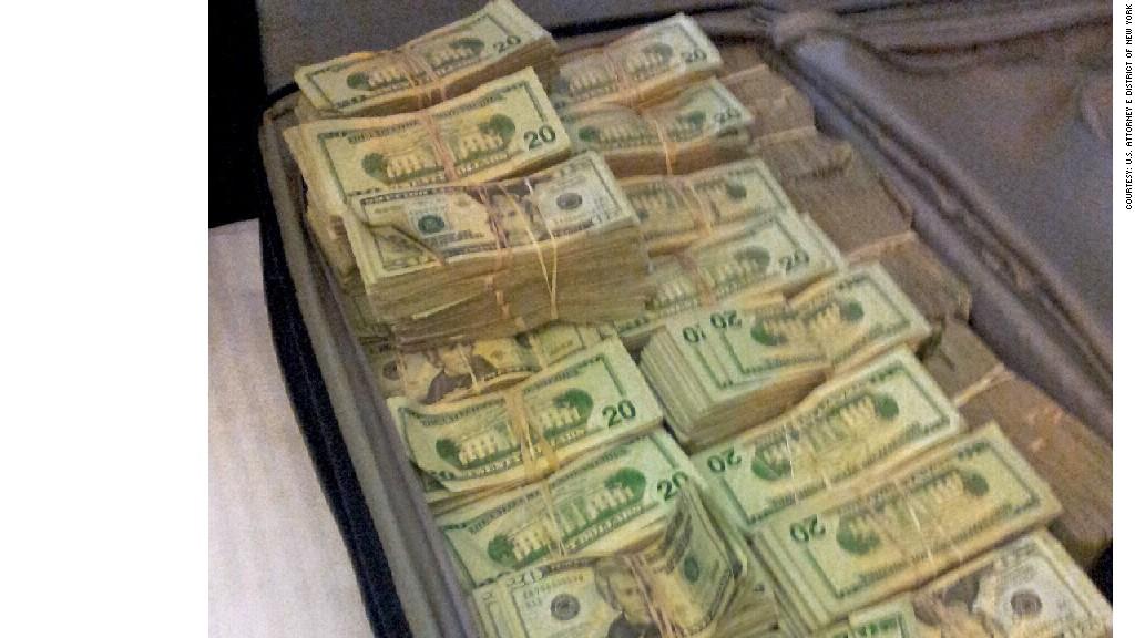 cybercrime money suitcase