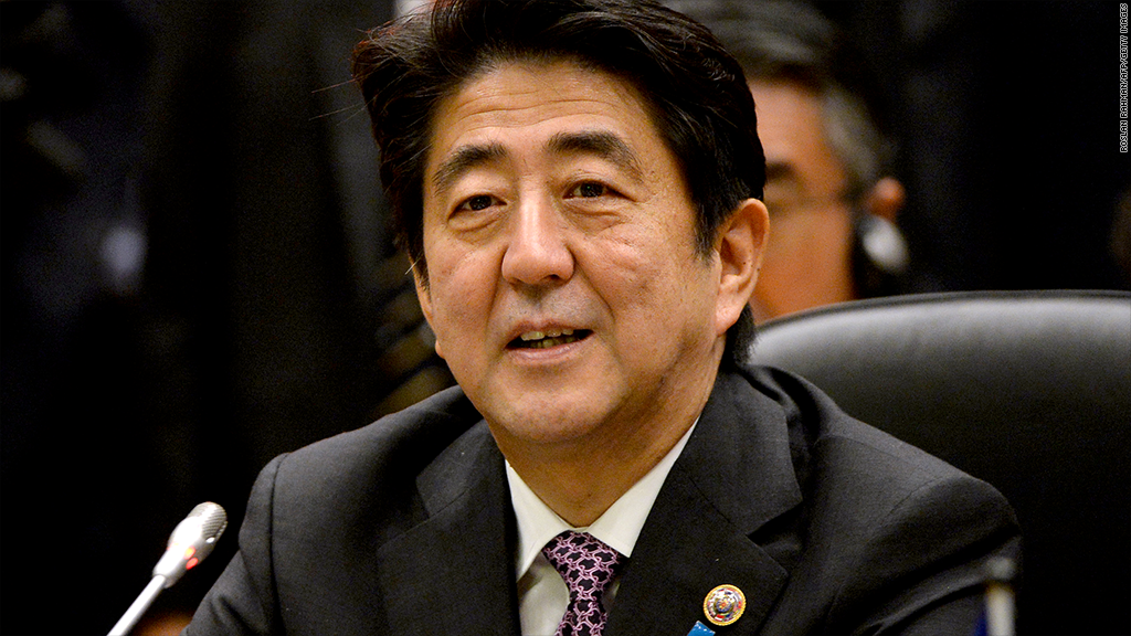japan tsunami shinzo abe