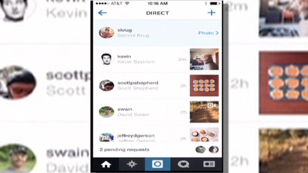 See Instagram's new messaging service