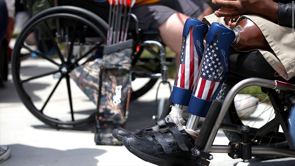 military pensions disabled veterans