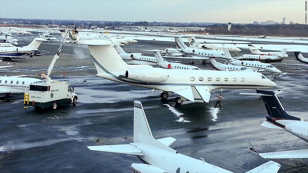 meridian private jet traffic