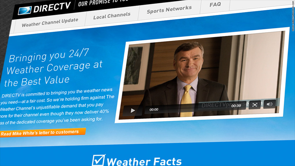 directv weather channel