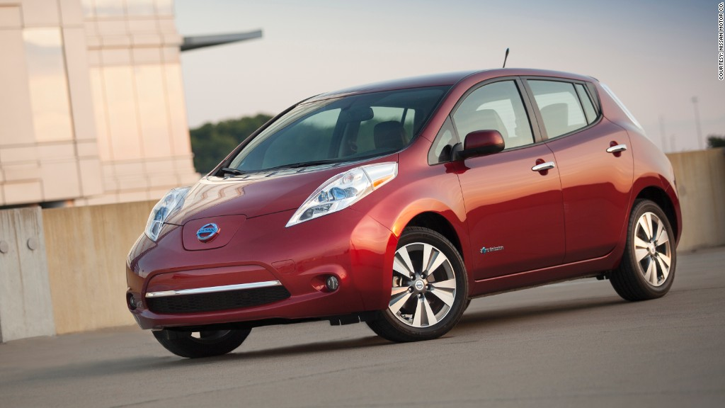 greenest cars nissan leaf