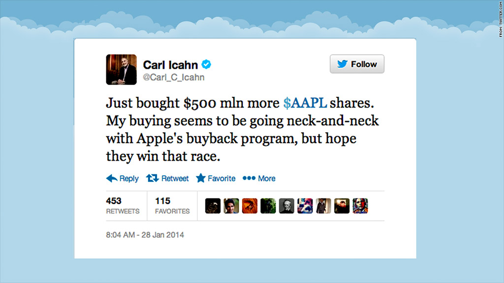 icahn twitter apple