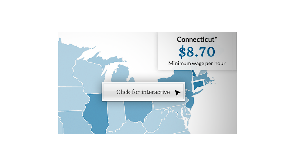 map minimum wage connecticut
