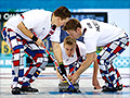 Norway's curling team makes a splash with crazy pants