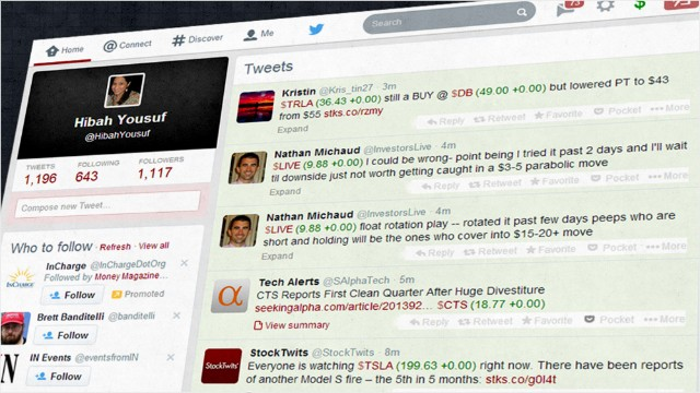 New tool for market junkies on Twitter