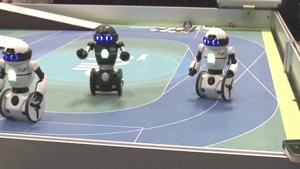 See new toy robots dance and climb walls