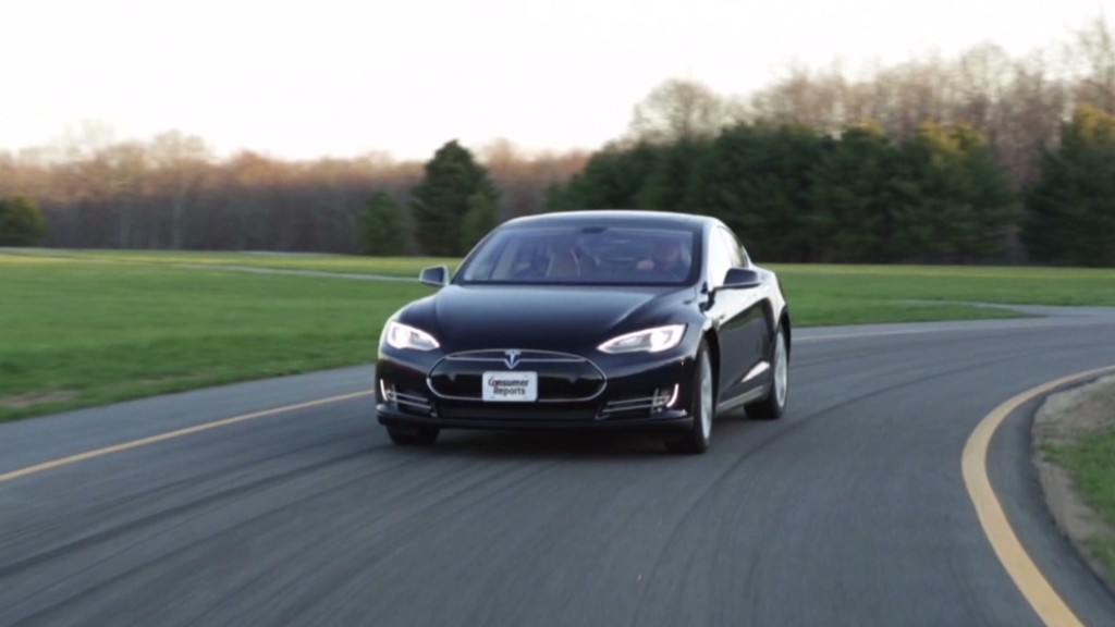 Tesla tops Consumer Reports' picks