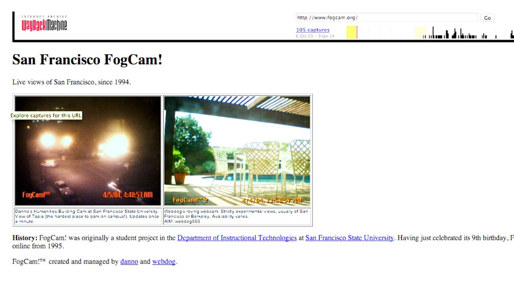 web anniversary fog cam