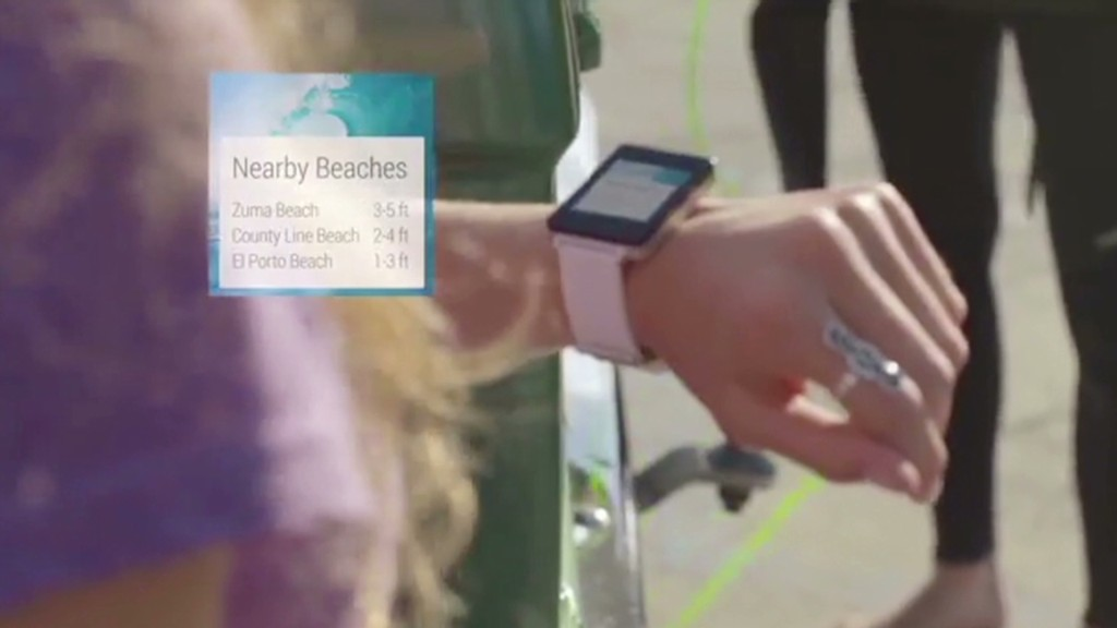 Google by talking to your wrist