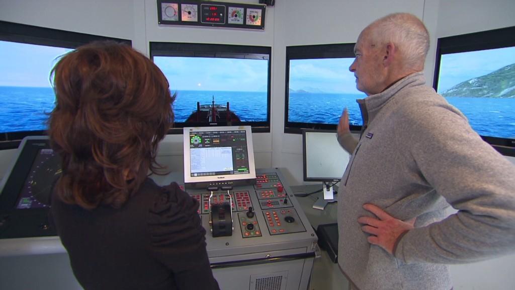 Simulating the tragic Exxon Valdez route