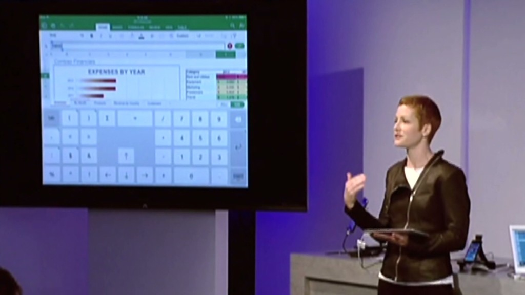 See Microsoft's Office for iPad